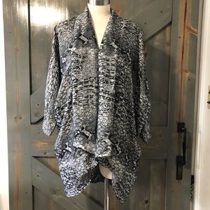 Vintage Snake Skin Print Kimono Size Small